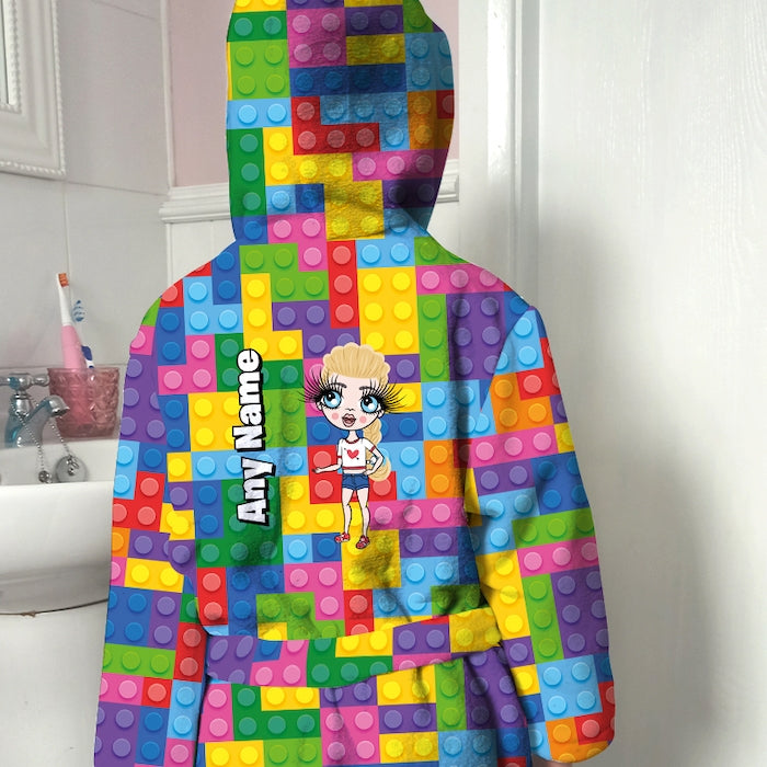 ClaireaBella Girls Building Blocks Dressing Gown - Image 1