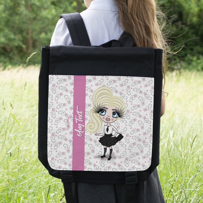 ClaireaBella Girls Bunny Print Backpack - Image 3