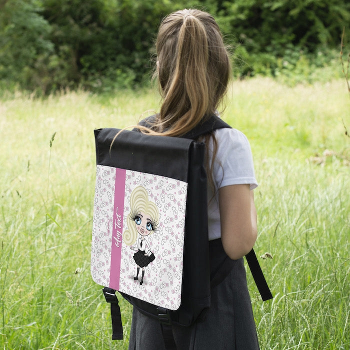 ClaireaBella Girls Bunny Print Backpack - Image 5