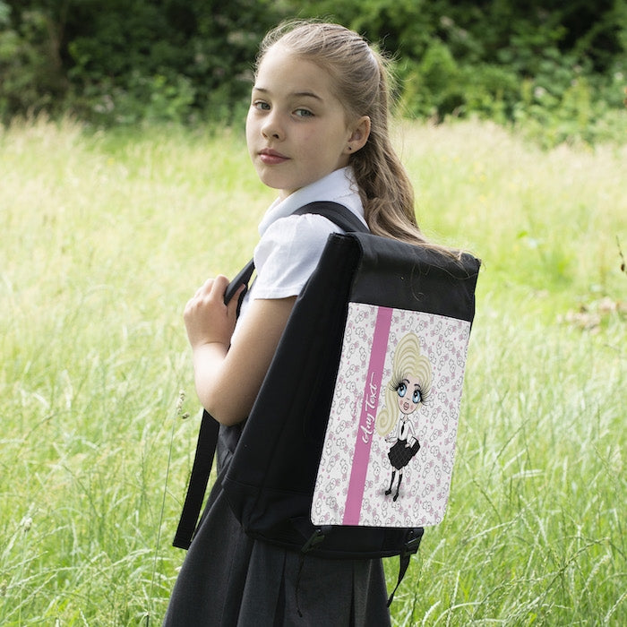 ClaireaBella Girls Bunny Print Backpack - Image 6