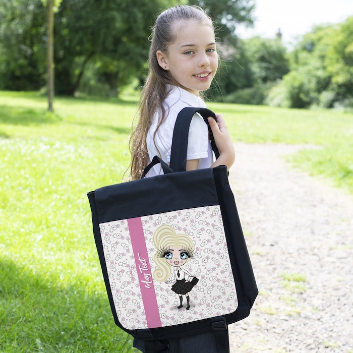 ClaireaBella Girls Bunny Print Backpack - Image 2
