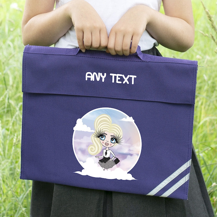 ClaireaBella Girls Clouds Book Bag - Image 1