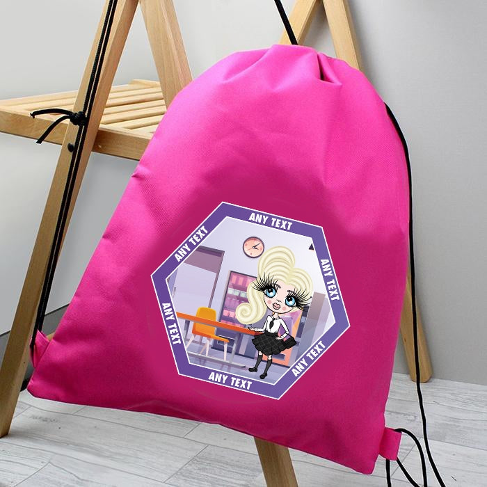 ClaireaBella Girls Canteen Drawstring Bag - Image 1