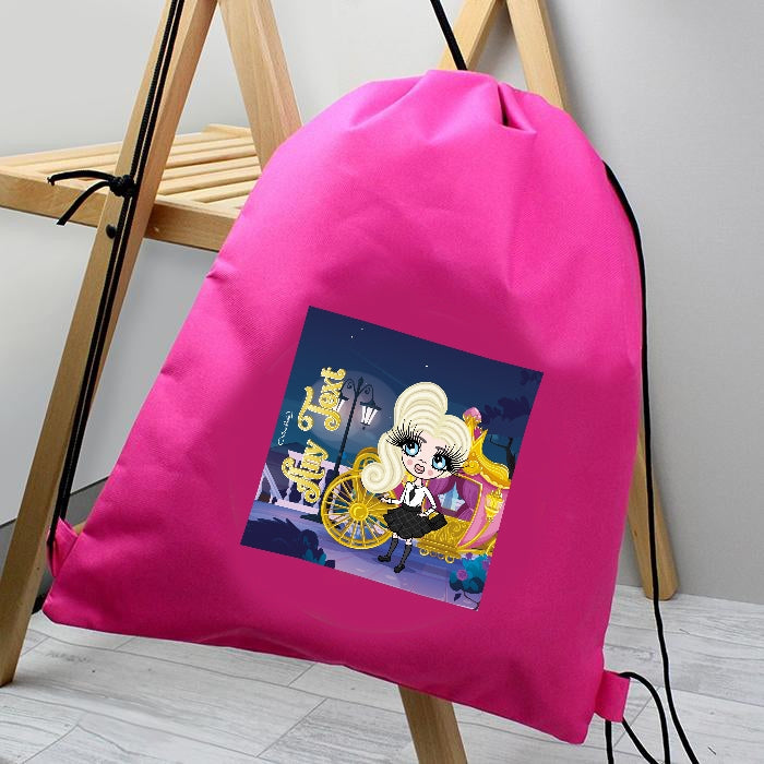 ClaireaBella Girls Fairy Tale Drawstring Bag - Image 1
