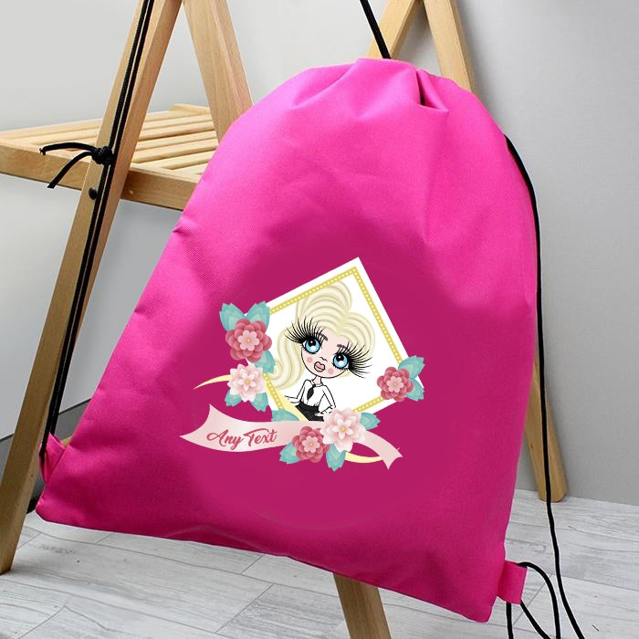 ClaireaBella Girls Floral Drawstring Bag - Image 2