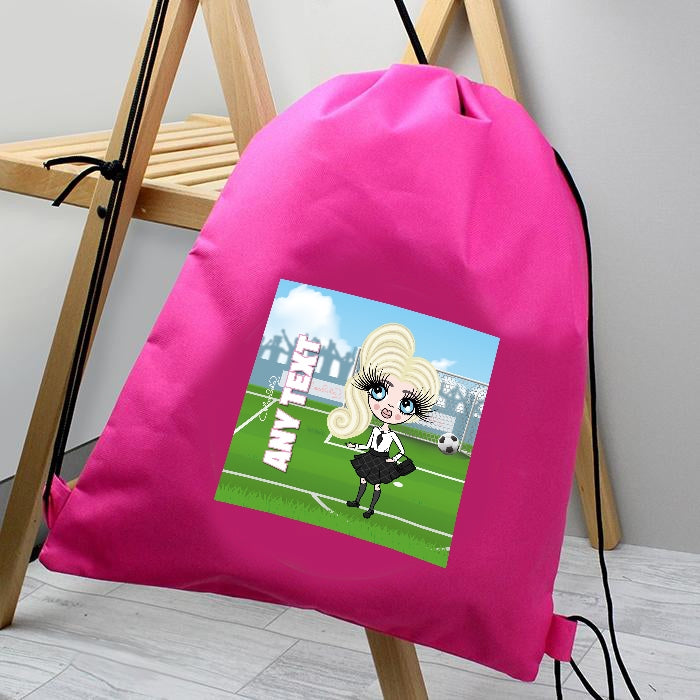 ClaireaBella Girls Football Champ Drawstring Bag - Image 2