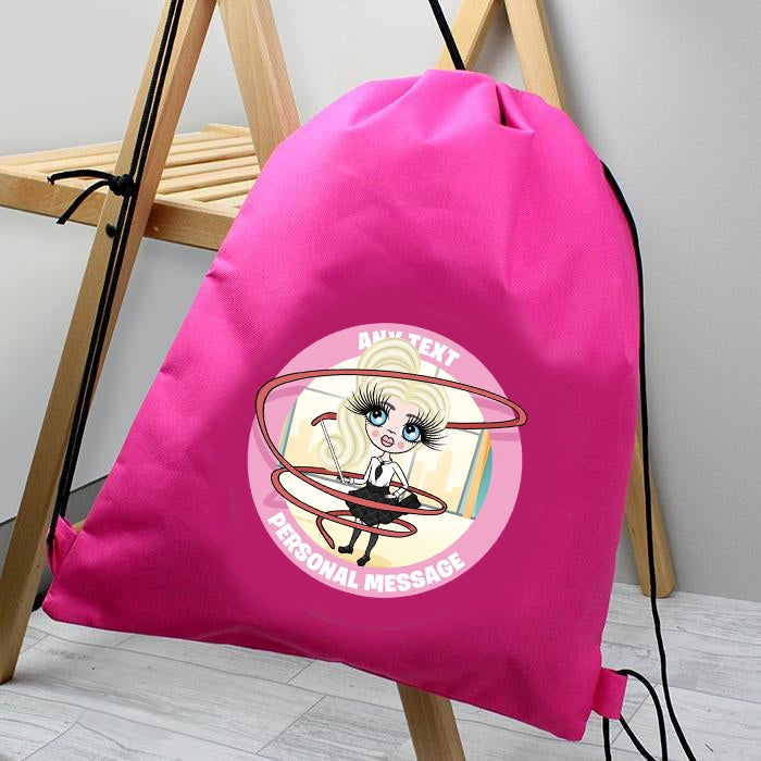 ClaireaBella Girls Gymnastics Drawstring Bag - Image 1