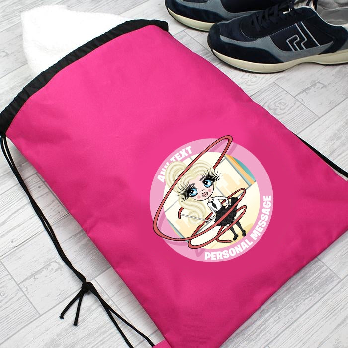 ClaireaBella Girls Gymnastics Drawstring Bag - Image 4