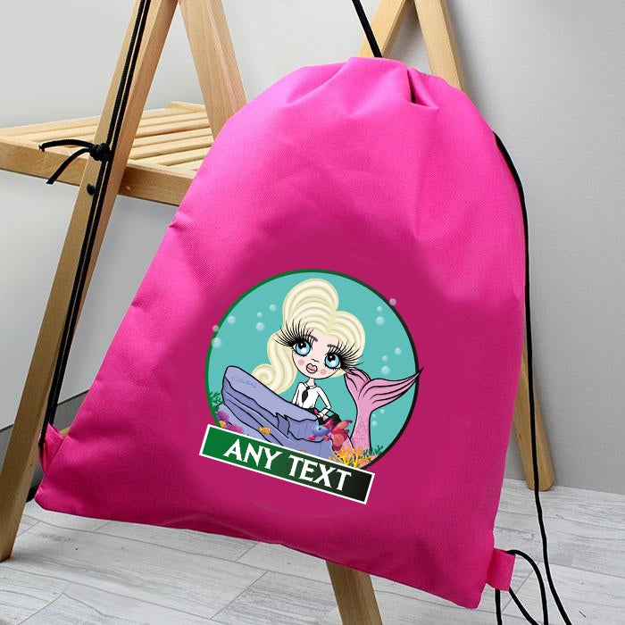 ClaireaBella Girls Mermaid Drawstring Bag - Image 1