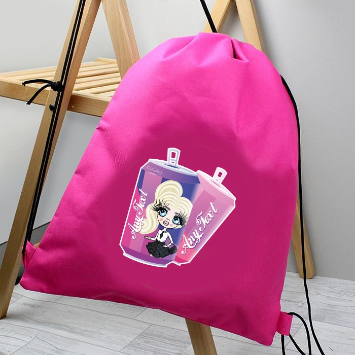 ClaireaBella Girls Soda Fun Drawstring Bag - Image 1