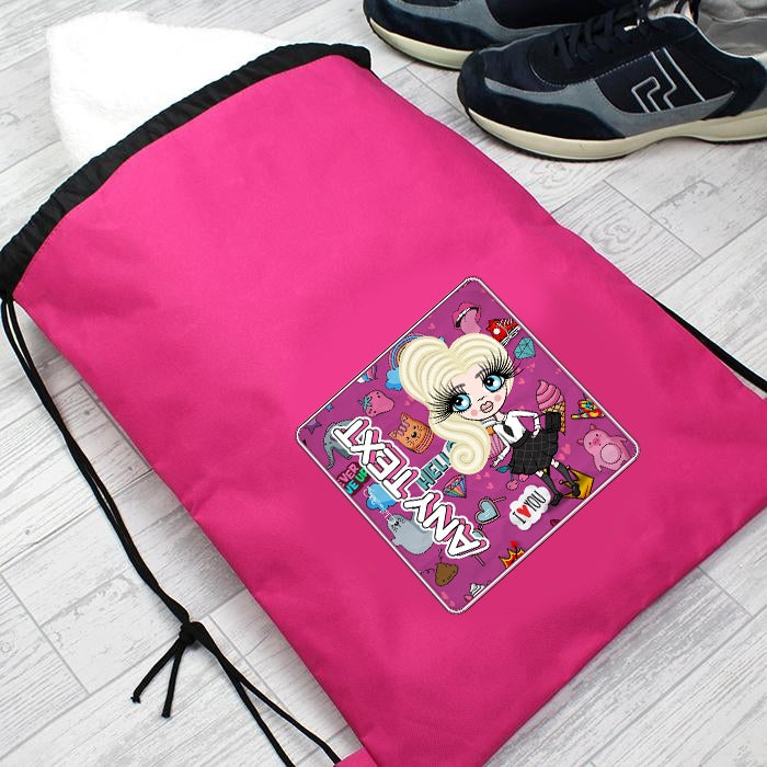 ClaireaBella Girls Fun Stickers Drawstring Bag - Image 5
