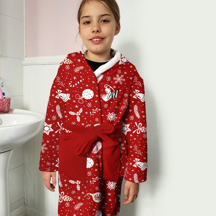 ClaireaBella Girls Festive Fun Dressing Gown - Image 2