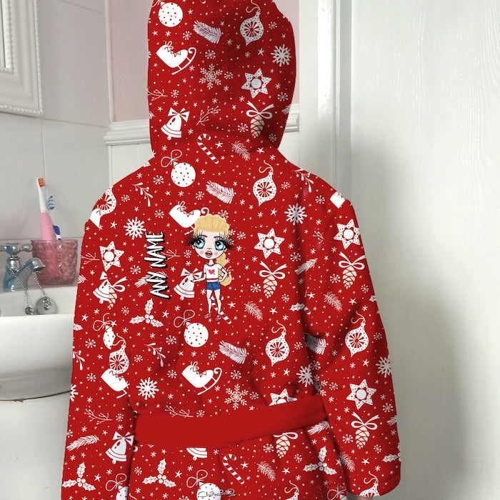 ClaireaBella Girls Festive Fun Dressing Gown - Image 4