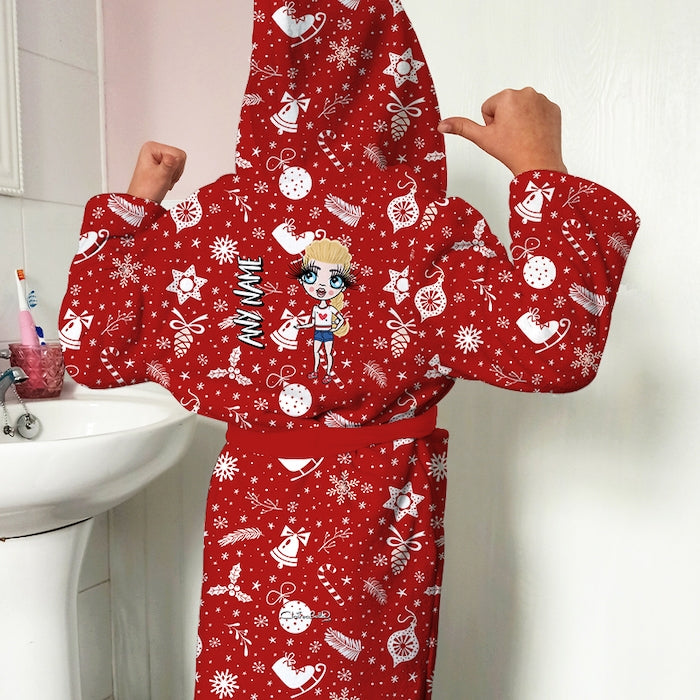 ClaireaBella Girls Festive Fun Dressing Gown - Image 1