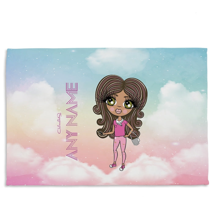 ClaireaBella Girls Unicorn Colours Fleece Blanket - Image 1