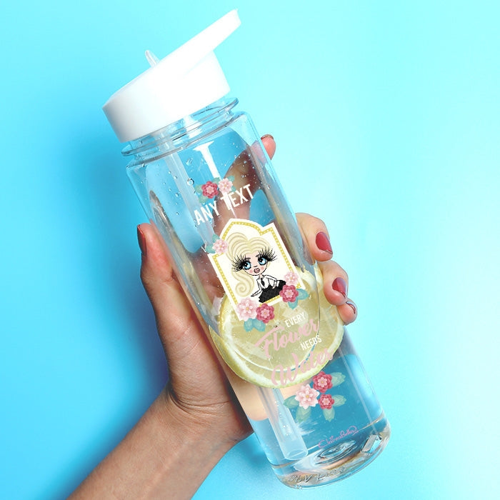 ClaireaBella Girls Floral Water Bottle - Image 1