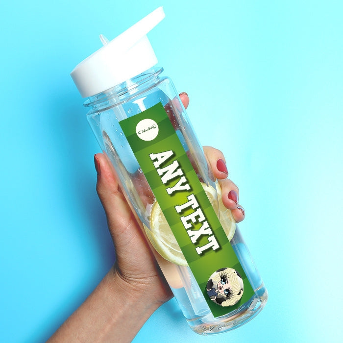 ClaireaBella Girls Football Water Bottle - Image 1