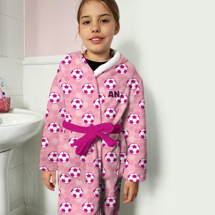 ClaireaBella Girls Football Dressing Gown - Image 2
