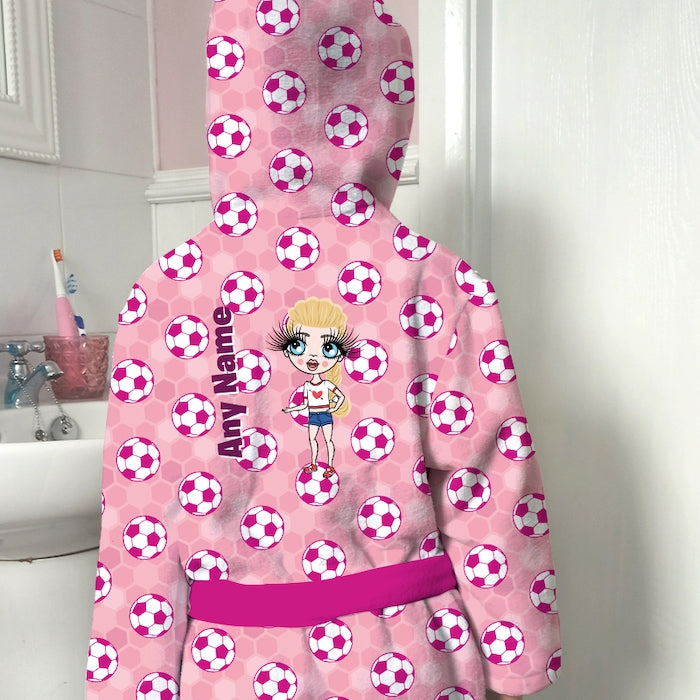 ClaireaBella Girls Football Dressing Gown - Image 3