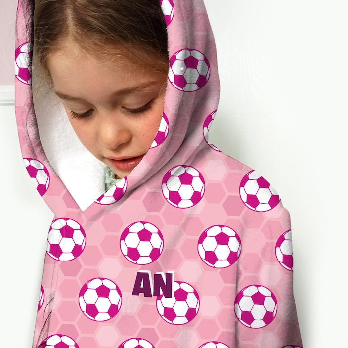 ClaireaBella Girls Football Dressing Gown - Image 4