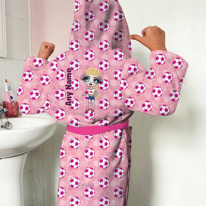 ClaireaBella Girls Football Dressing Gown - Image 1