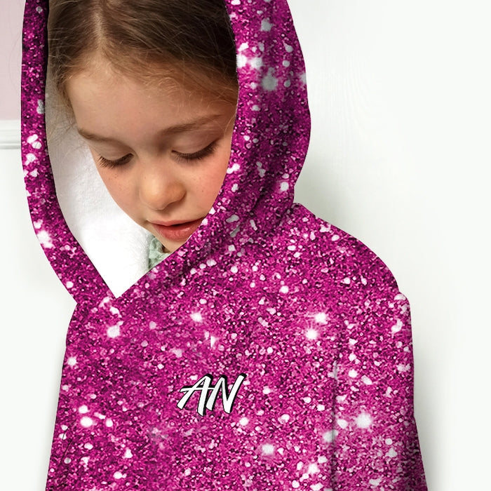 ClaireaBella Girls Pink Glitter Effect Dressing Gown - Image 4