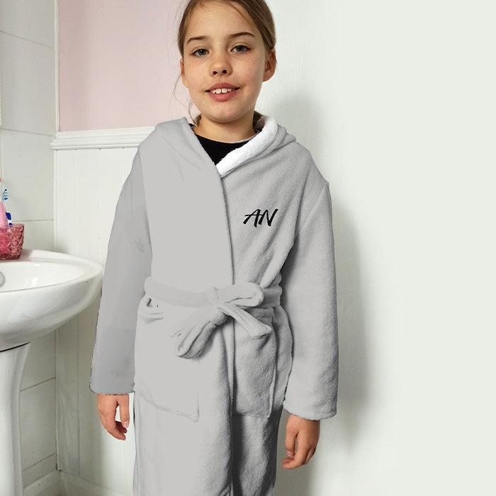 ClaireaBella Girls Grey Dressing Gown - Image 2