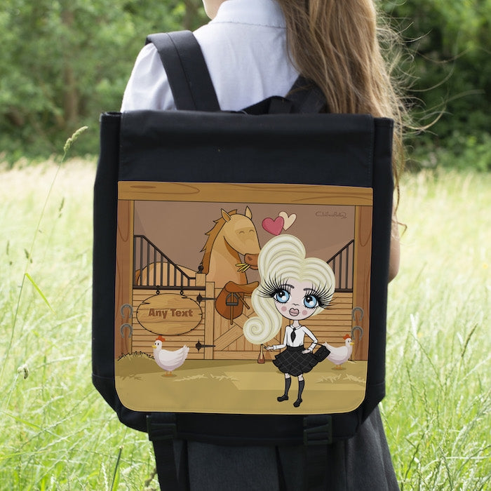 ClaireaBella Girls Pony Love Backpack - Image 1