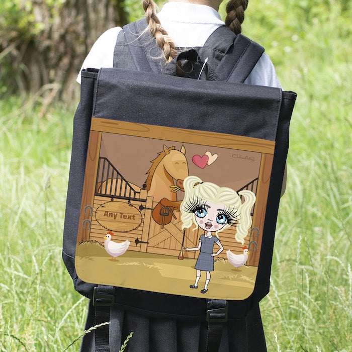 ClaireaBella Girls Pony Love Backpack - Image 6