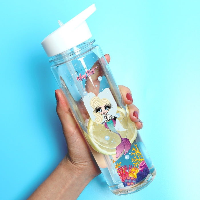 ClaireaBella Girls Mermaid Fun Water Bottle - Image 1