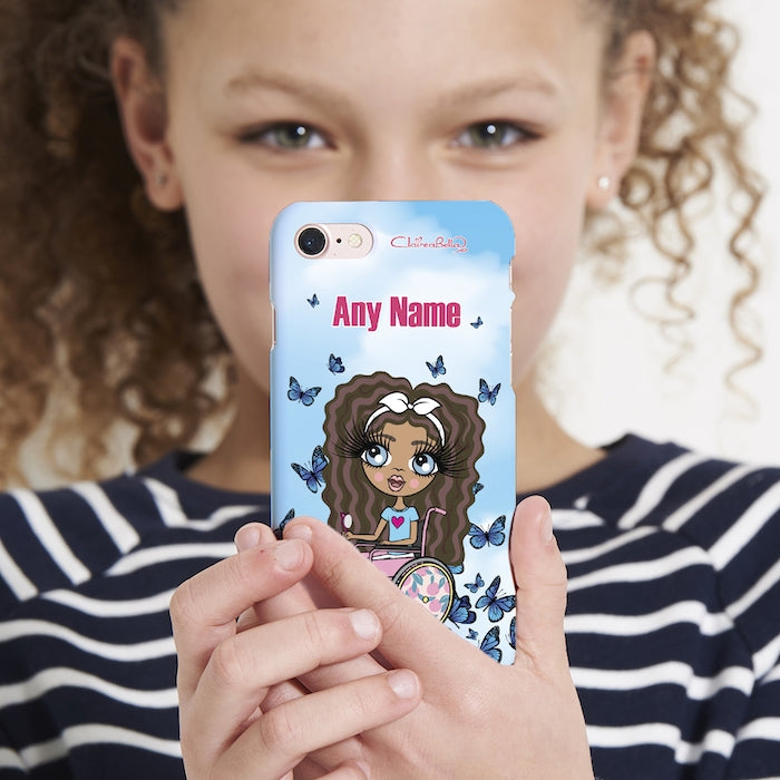 ClaireaBella Girls Wheelchair Personalised Butterfly Phone Case - Image 3