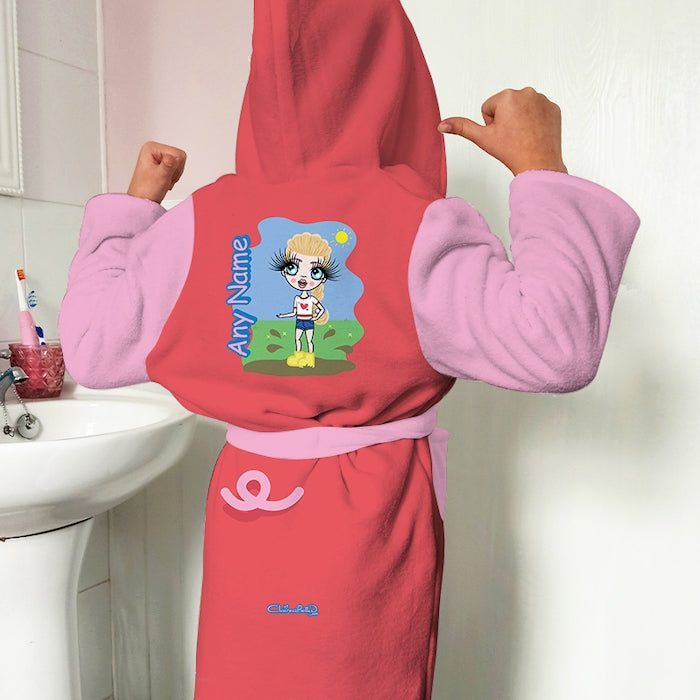 ClaireaBella Girls Piggy Dressing Gown - Image 1