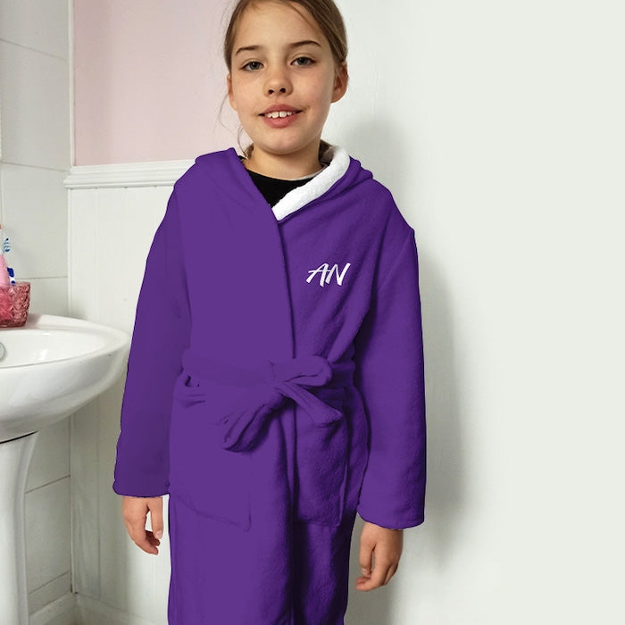 ClaireaBella Girls Purple Dressing Gown - Image 2