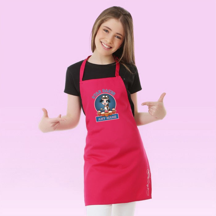 ClaireaBella Girls Star Baker Apron - Image 1