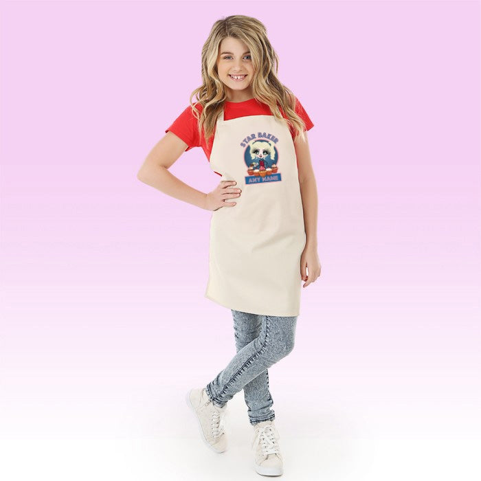 ClaireaBella Girls Star Baker Apron - Image 2