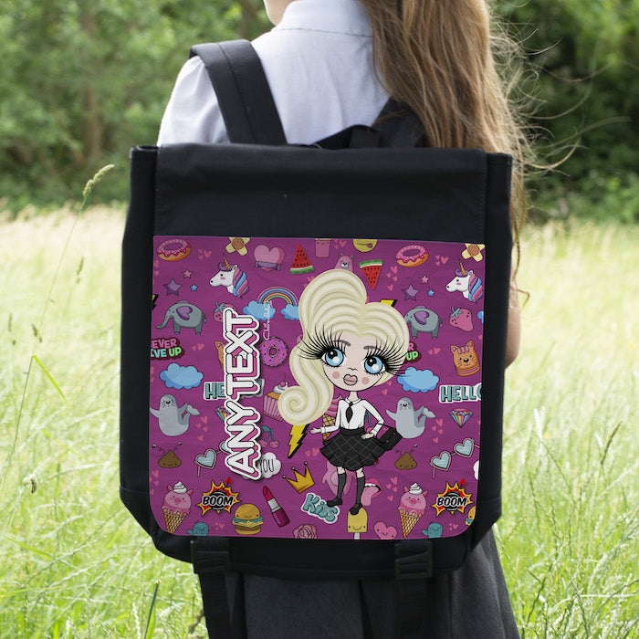ClaireaBella Girls Stickers Backpack - Image 1