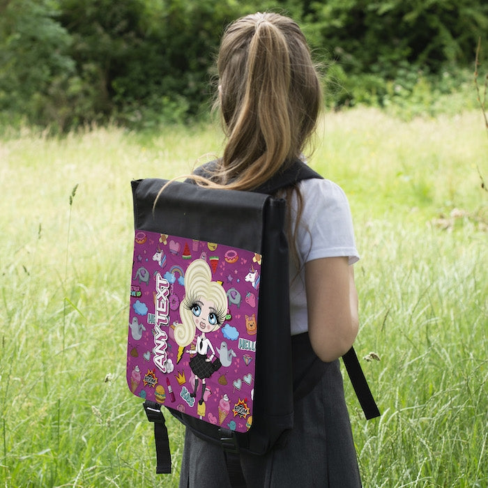 ClaireaBella Girls Stickers Backpack - Image 6