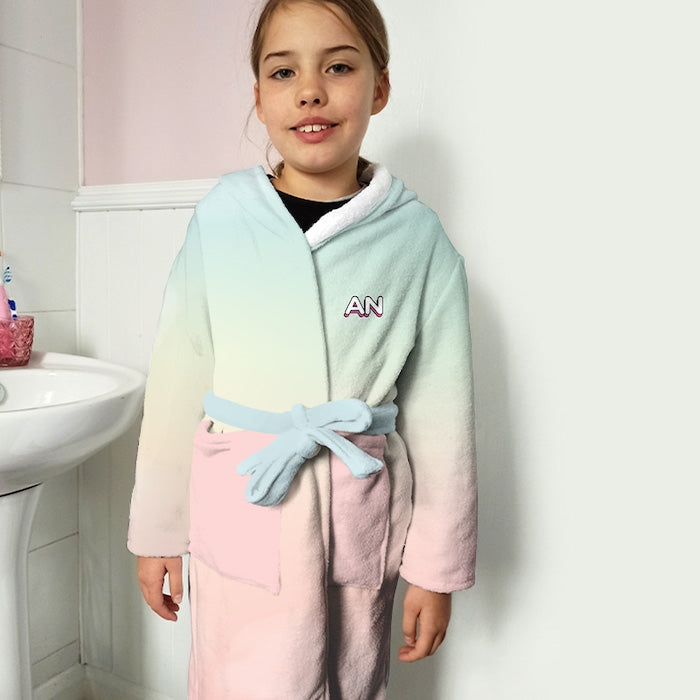 ClaireaBella Girls Unicorn Colours Dressing Gown - Image 2