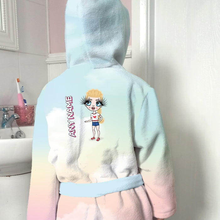 ClaireaBella Girls Unicorn Colours Dressing Gown - Image 1