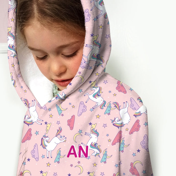 ClaireaBella Girls Unicorns Print Dressing Gown - Image 2
