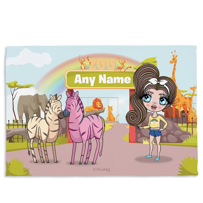 ClaireaBella Girls Zoo Fleece Blanket - Image 8