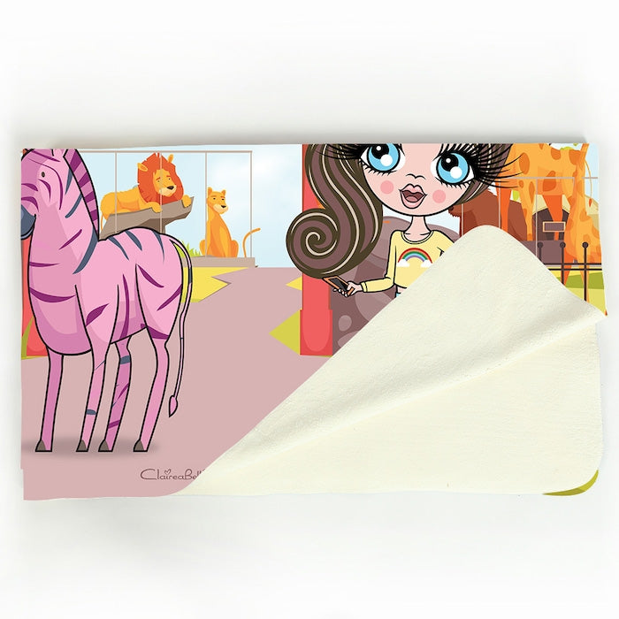 ClaireaBella Girls Zoo Fleece Blanket - Image 3