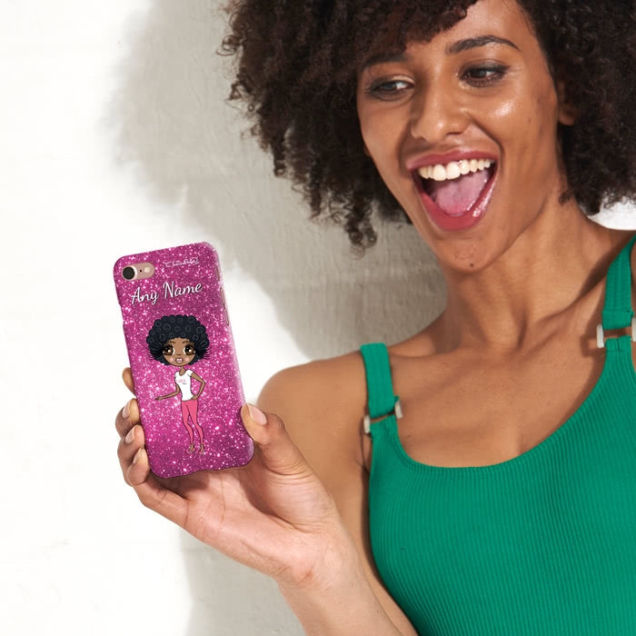 ClaireaBella Personalised Glitter Effect Phone Case - Image 1