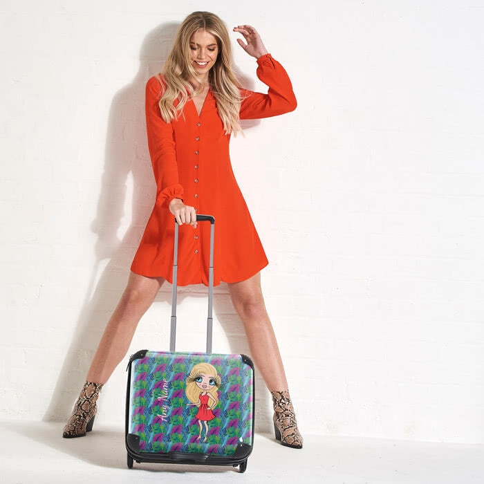 ClaireaBella Neon Leaf Weekend Suitcase - Image 7