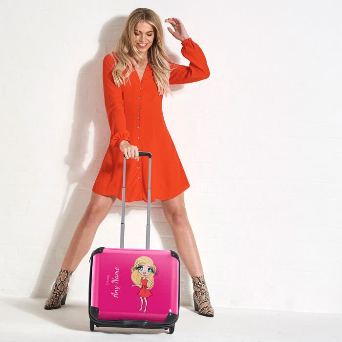 ClaireaBella Hot Pink Weekend Suitcase - Image 5
