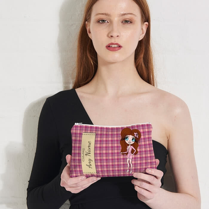 ClaireaBella Tartan Print Make Up Bag - Image 3