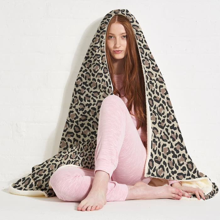 ClaireaBella Leopard Print Hooded Blanket - Image 6