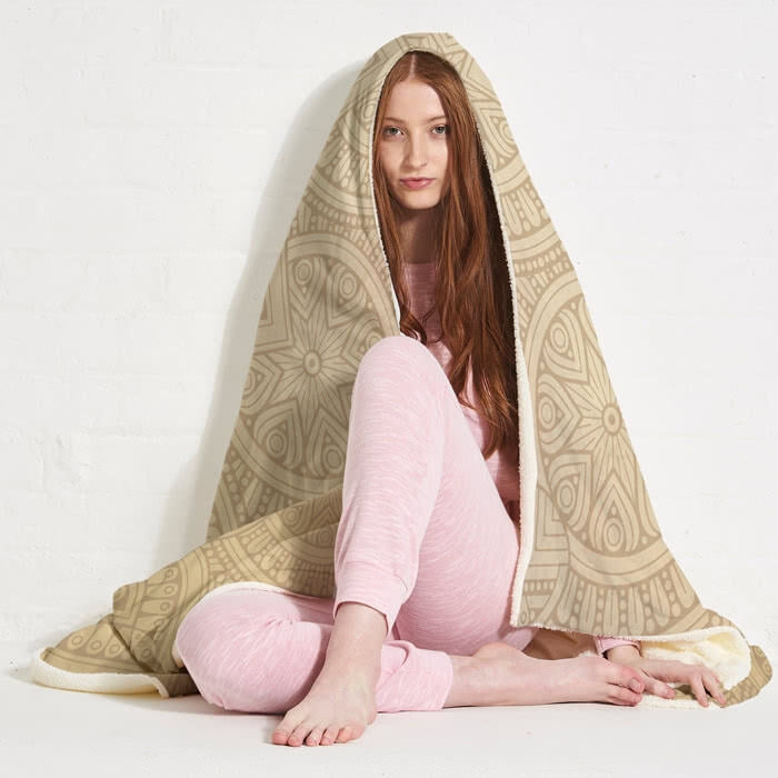 ClaireaBella Lace Print Hooded Blanket - Image 6