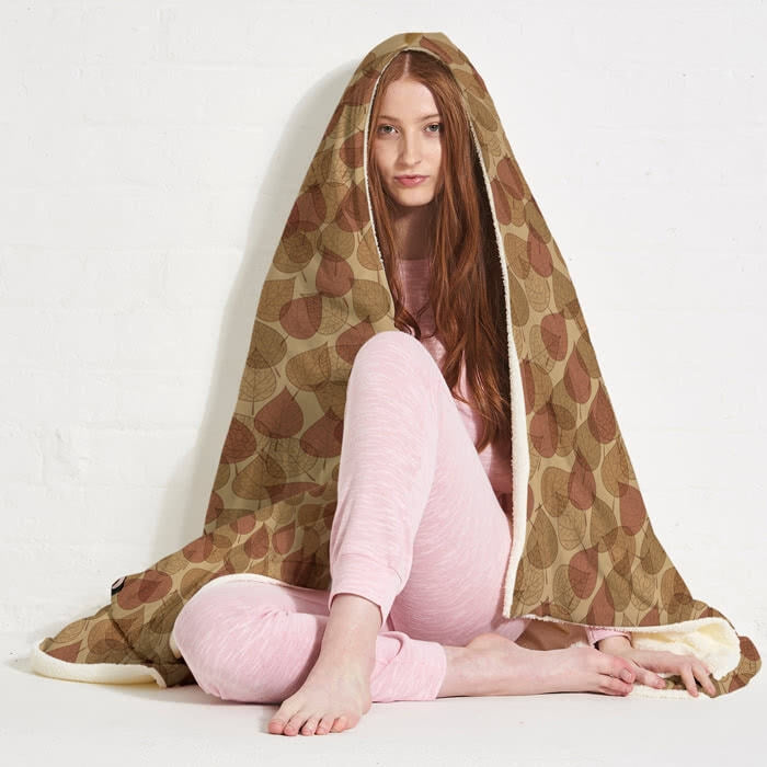 ClaireaBella Autumn Leaves Hooded Blanket - Image 6
