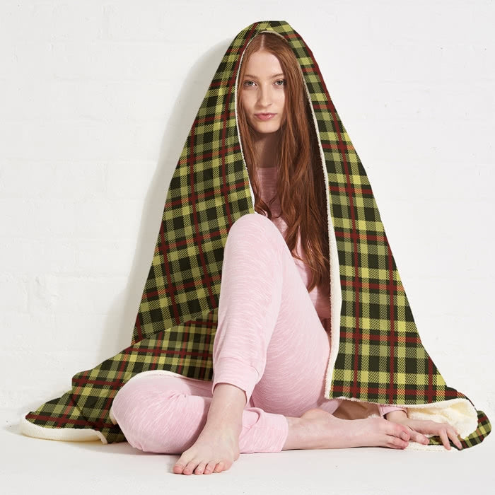 ClaireaBella Tartan Hooded Blanket - Image 3